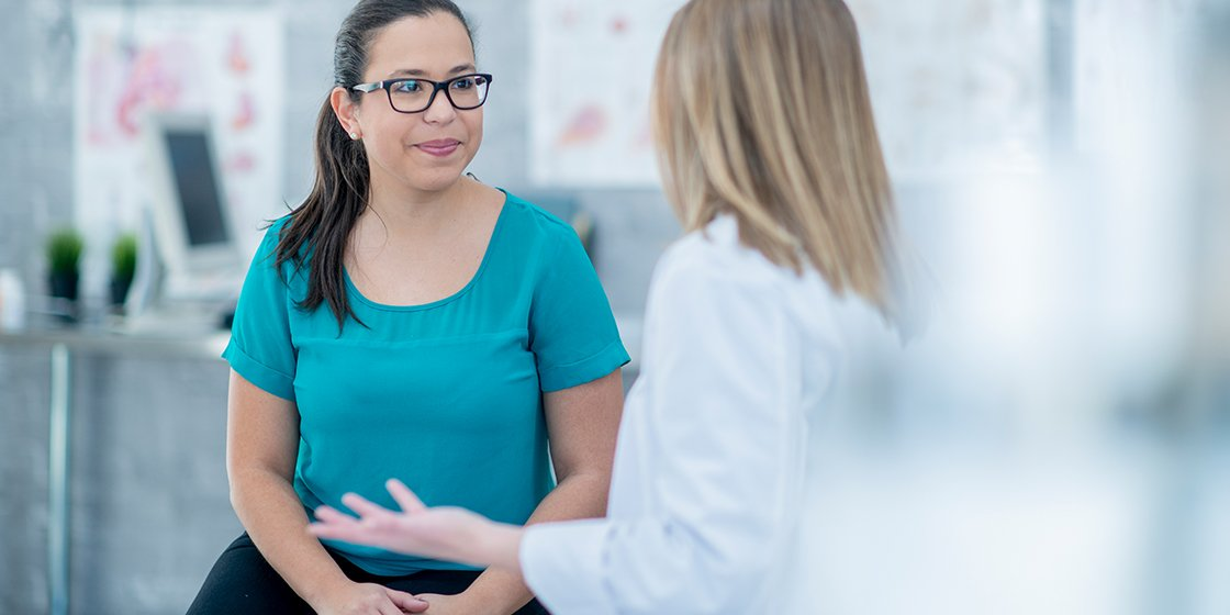 Woman visiting a medical professional